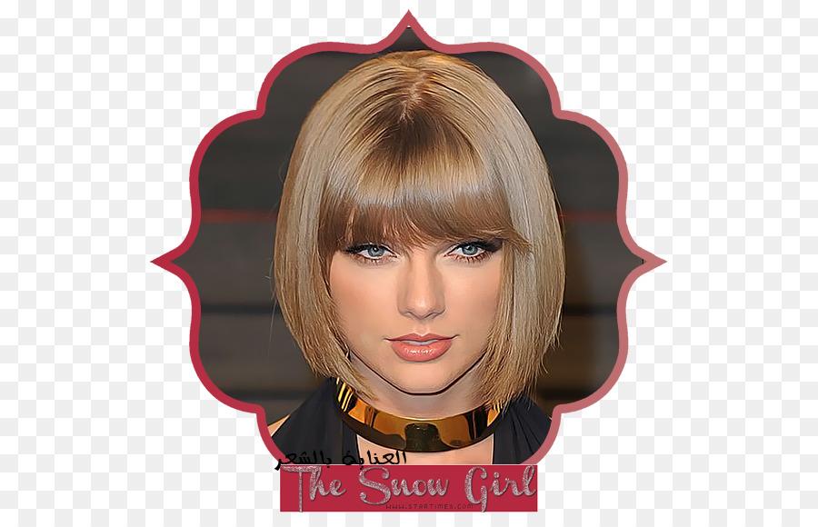 Taylor Swift Bob Cut Hairstyle Bangs Taylor Swift Png Download