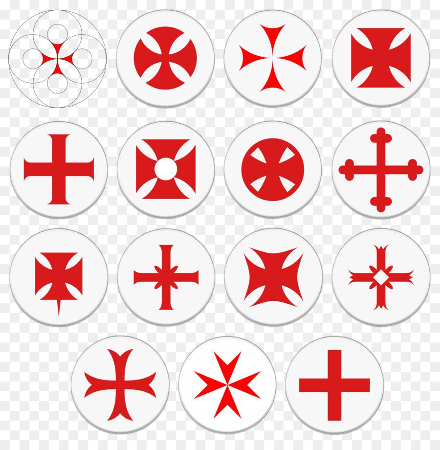 Knights Templar Symbol Cross Clip Art Symbol Png Download 2378