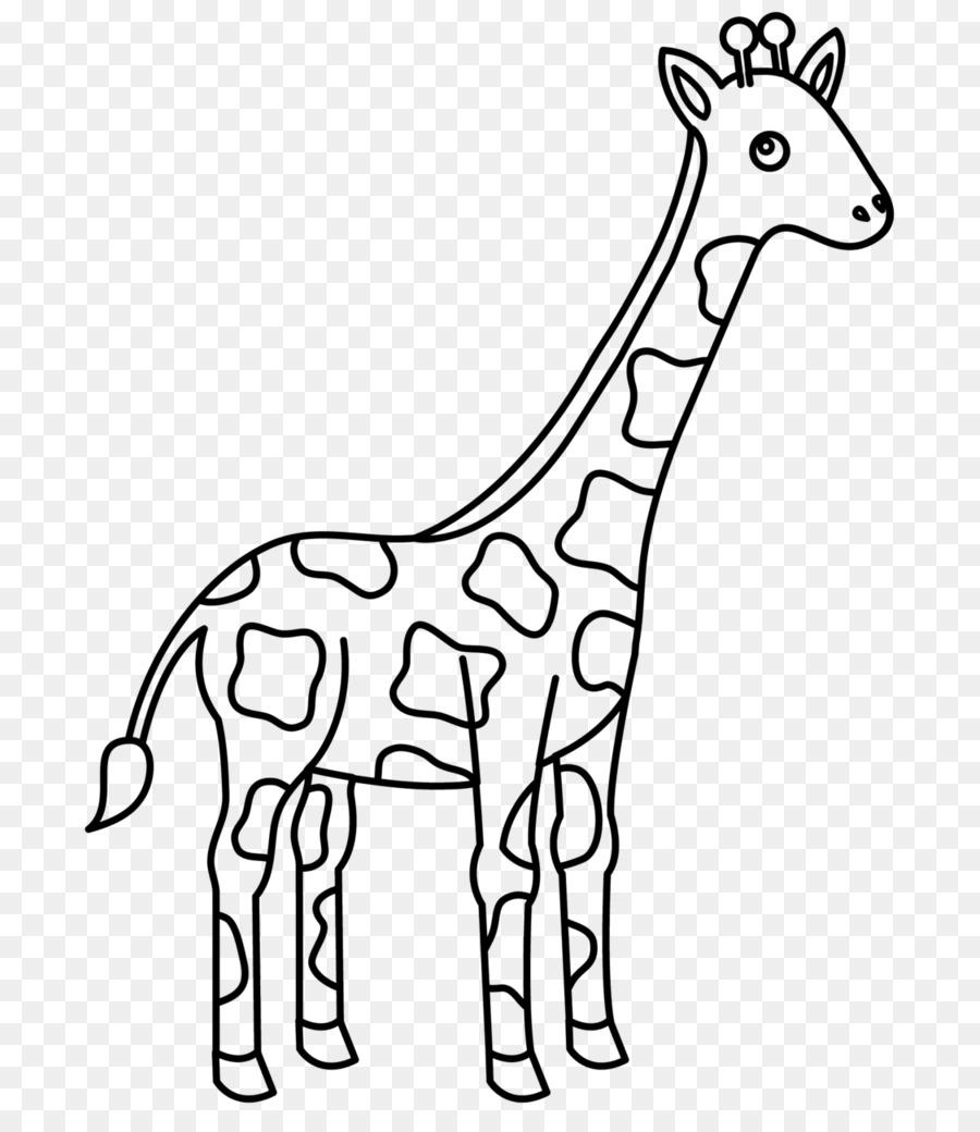 Giraffe Family Coloring Book Giraffe Png Download 7651024