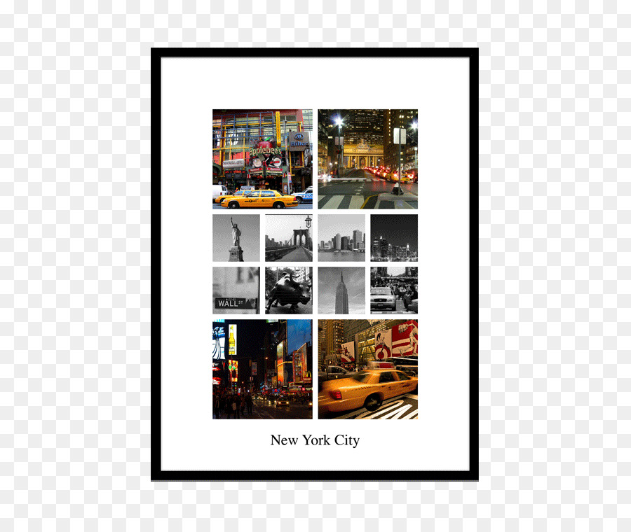 Photo collage Picture Frames Photography - New York street png ...