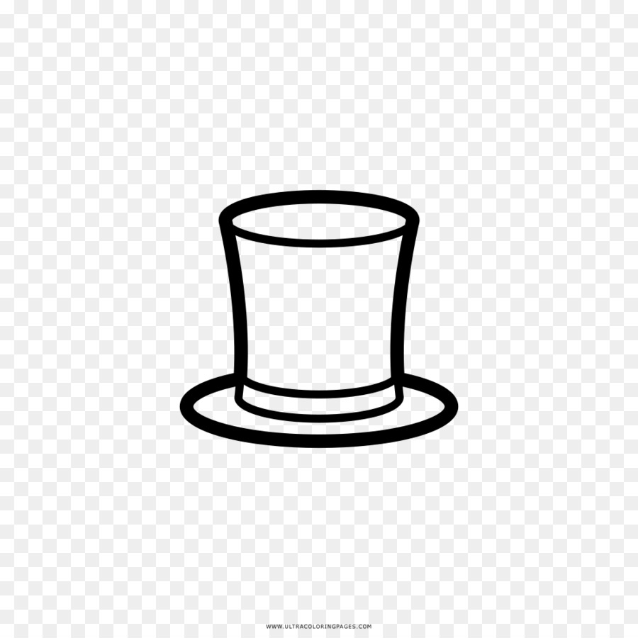 Dibujo para Colorear libro de sombrero Negro y blanco - Sombrero png ...