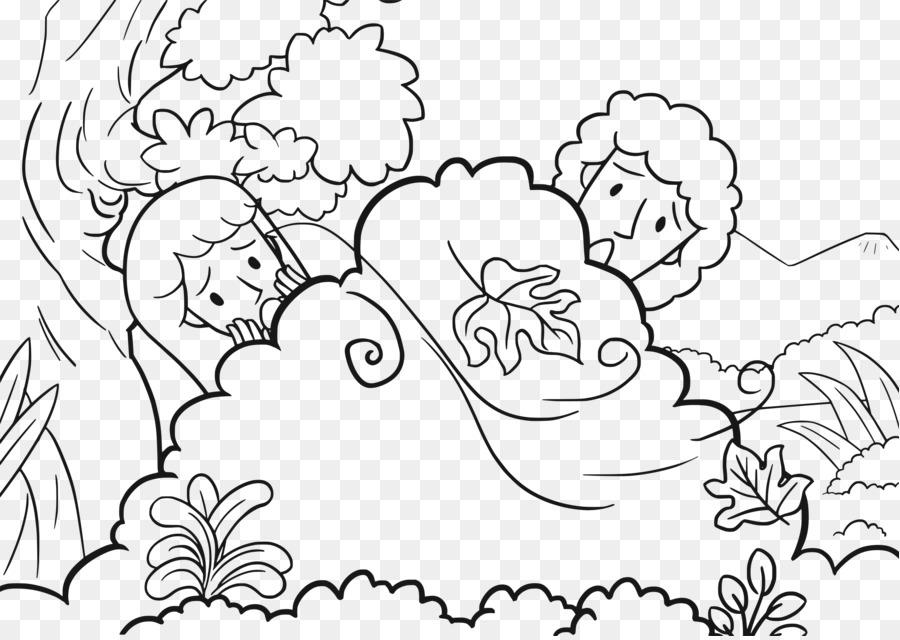 Garden Of Eden Coloring Book Adam And Eve Bible Forbidden Fruit