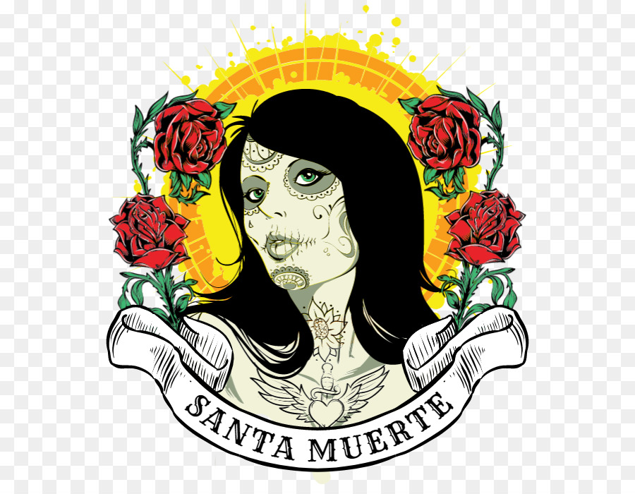 T shirt fotografi Saham - Santa muerte - Unduh Bunga, Seni