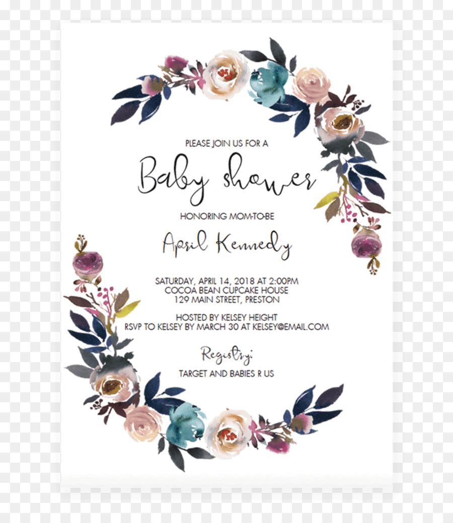 Wedding Invitation Baby Shower Party Convite Child Free Bohemian