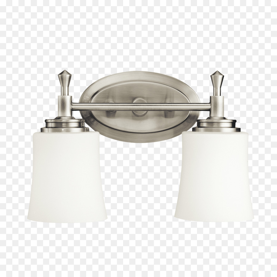 Lighting Kichler Brushed Metal Bathroom   Lighting Fixture