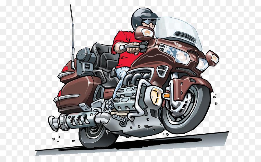 Cartoon Honda Gold Wing Birthday Motorcycle Accessories