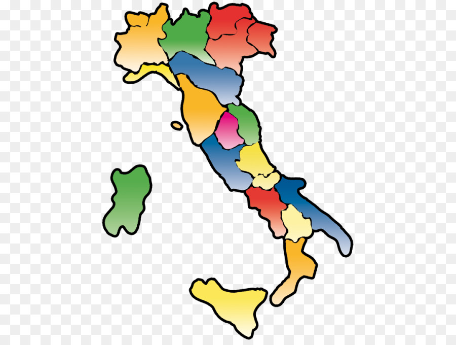 Italy Map Regions Provinces.Regions Of Italy Abruzzo Lazio Sicily Clip Art Others Png Download