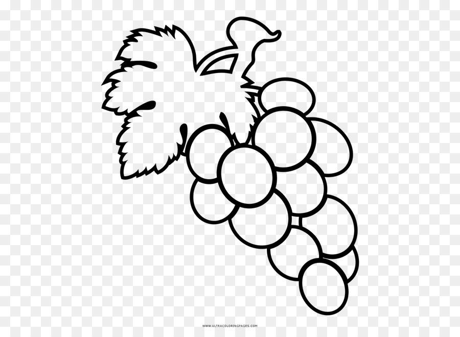 Anggur Mewarnai Gambar Buah Anggur Unduh Putih Hitam Dan Putih