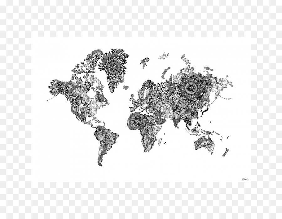 World Map Globe Drawing World Map Png Download Free - Mandala map of the world