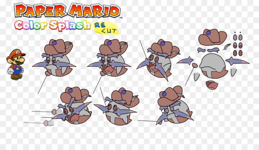 La Finzione Del Personaggio Dei Cartoni Animati Colorato Splash