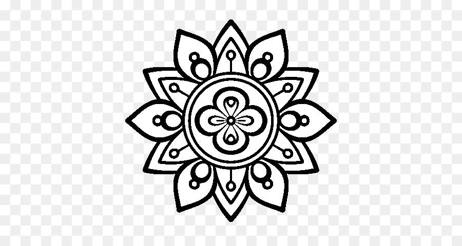 Disegno Di Mandala Da Colorare Pittura Cinese Lotus Scaricare Png