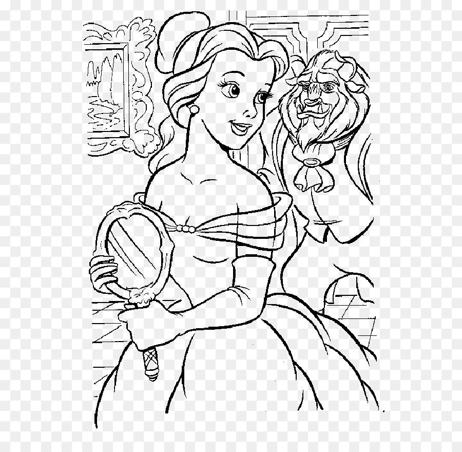 Belle Bestia libro para Colorear de Dibujo de la Línea de arte - La ...