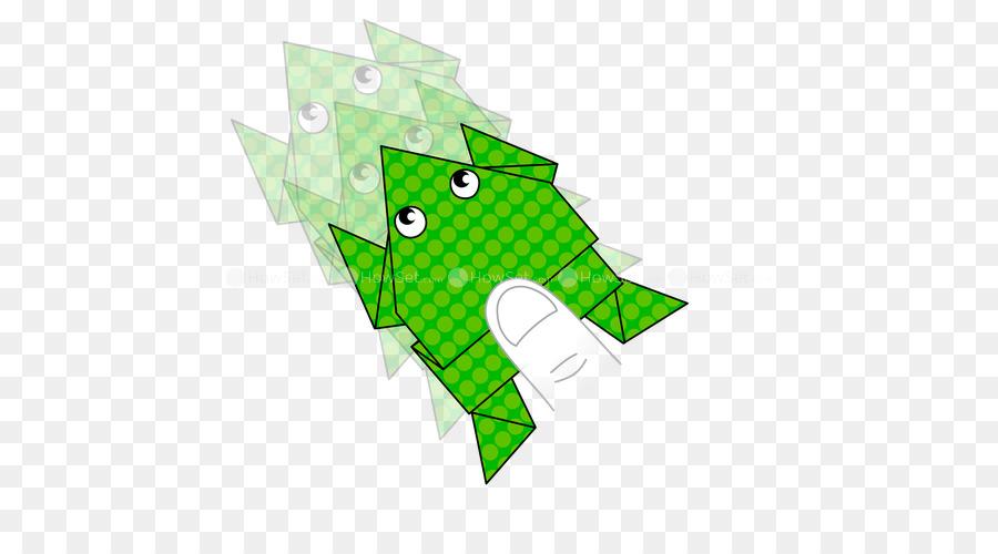 Kertas Frog Origami Crane Orizuru Katak Unduh Hijau Daun