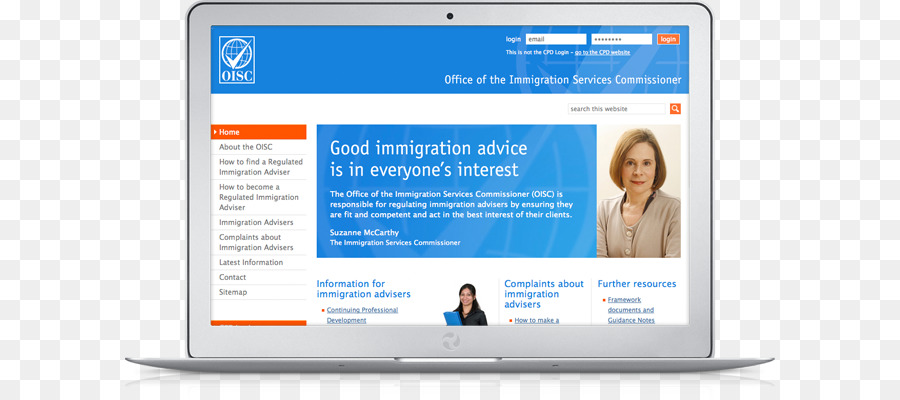 Immigration Web Page png download - 650*400 - Free Transparent
