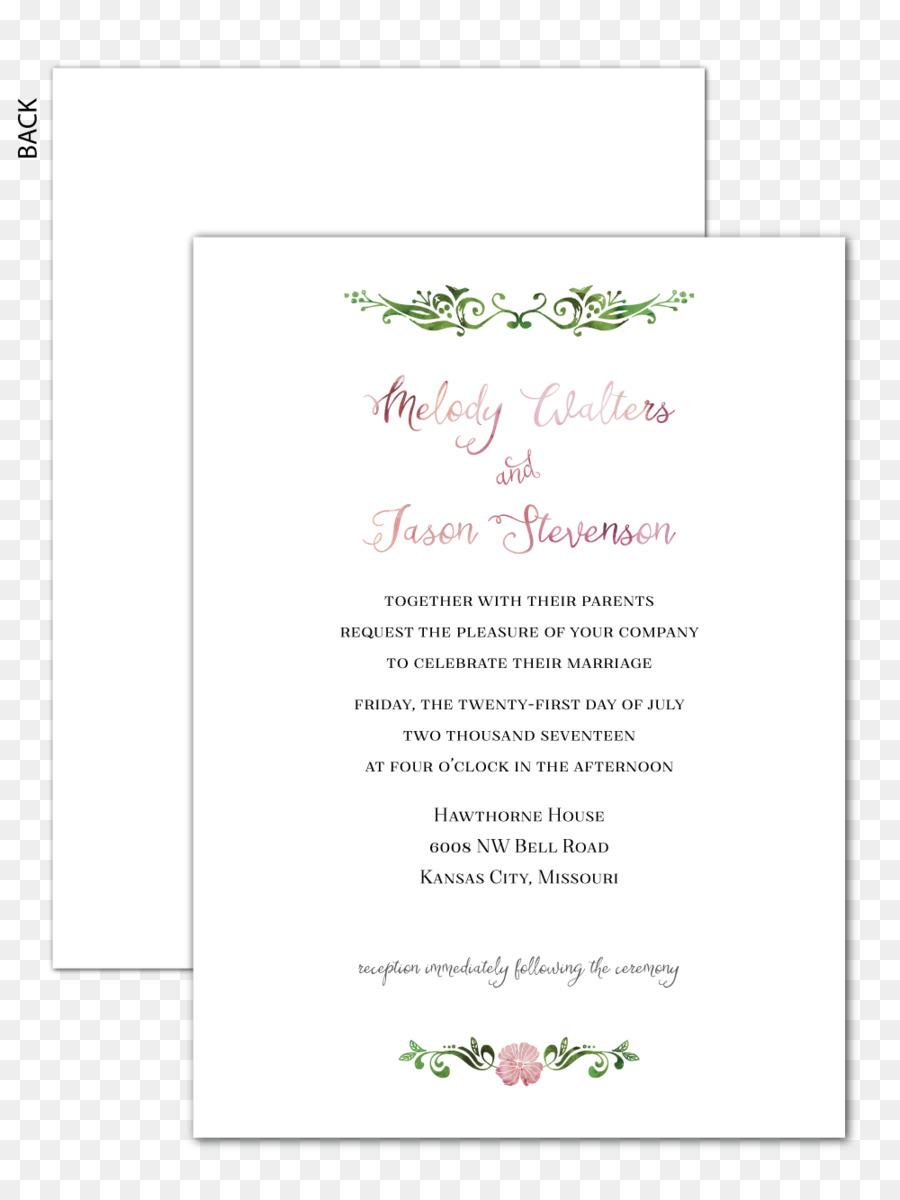 Wedding invitation Petal Flower Floral design Floristry - Invitation ...