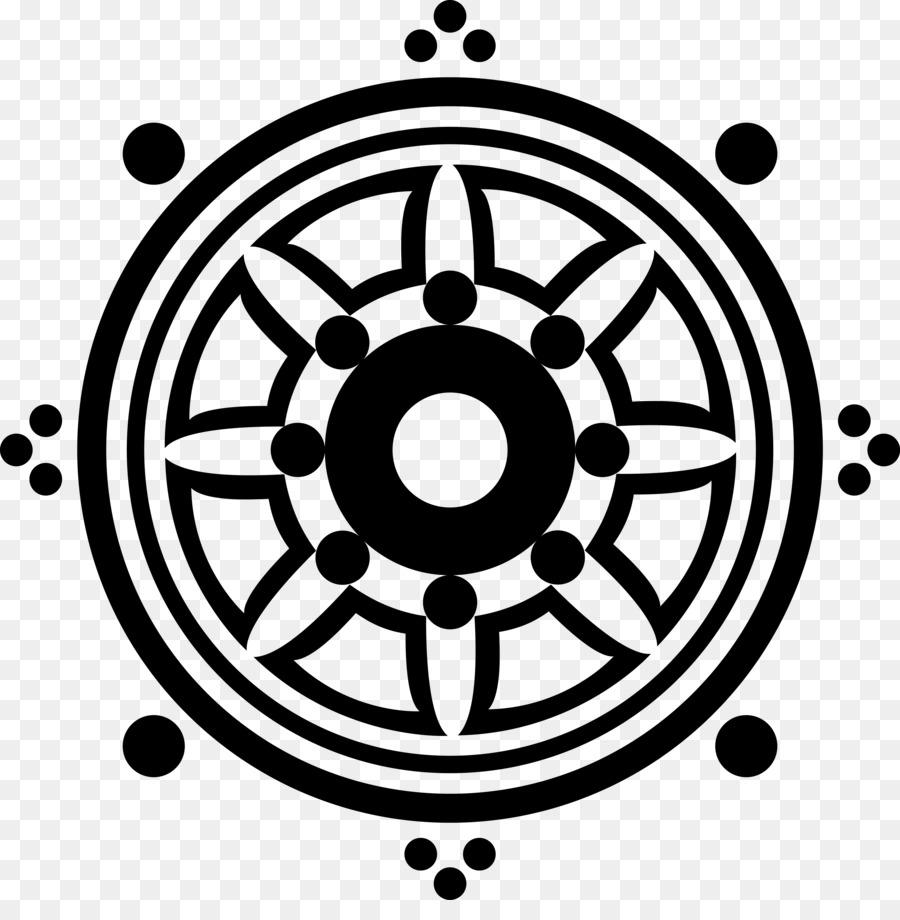 Dharmachakra Buddhism Buddhist Symbolism 8 Fold Path Tattoo Png