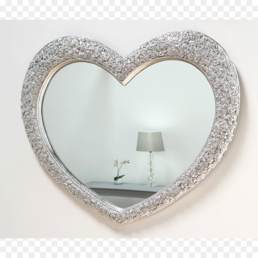 Magic Mirror Picture Frames Heart Silver - silver shapes png ...