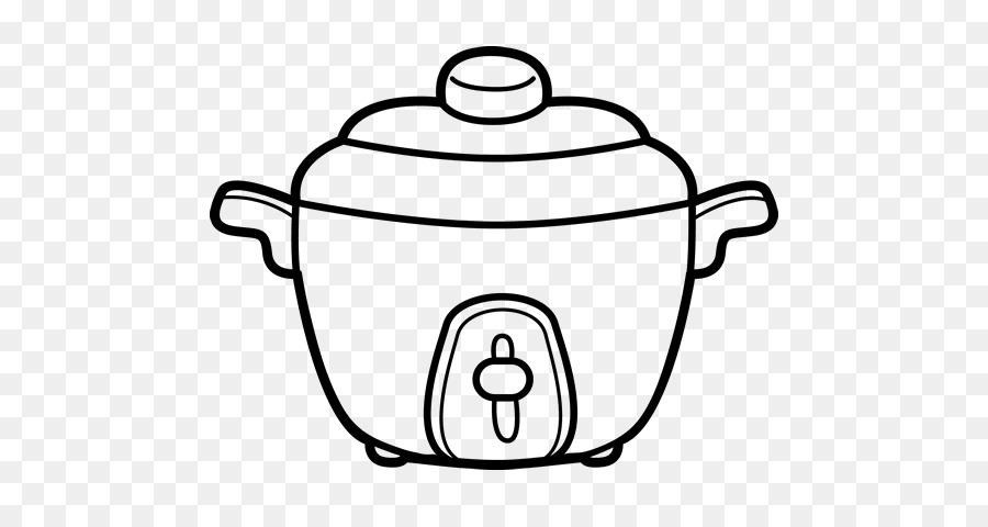 Pressure Cooker Buku Mewarnai Rice Cooker Memasak Memasak Sketsa