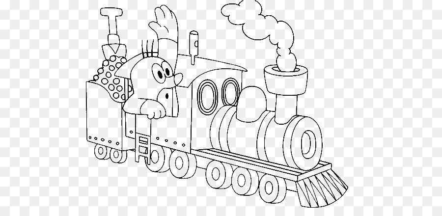 Coloring book Train Child Steam locomotive Mole Day - train png ...