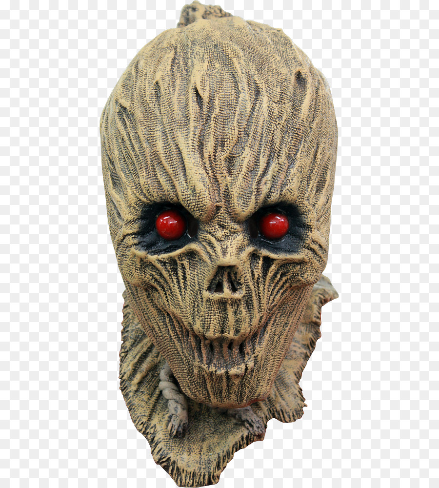 latex mask halloween costume scarecrow - creepy mask png download