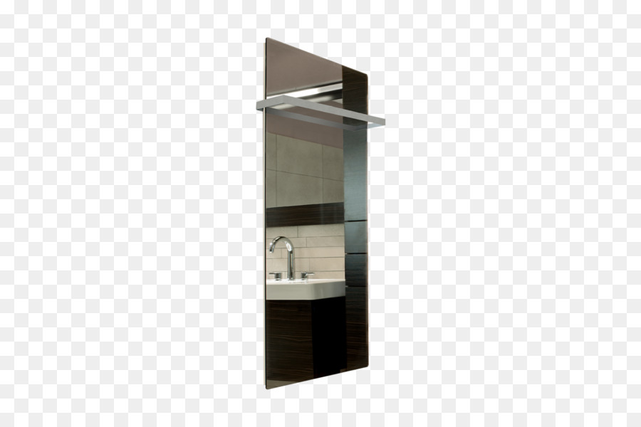 Mirror Glass WarmlyYours Bathroom Shelf - towel rack png download ...