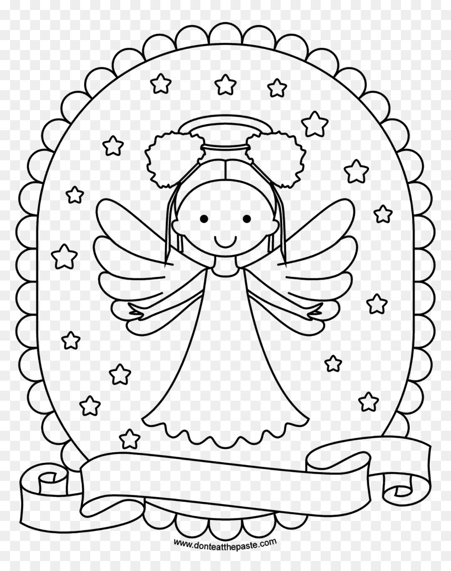 Coloring book Printing Black and white - Angel watercolor png ...