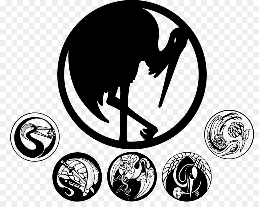 Mon Clan Symbol Legend Of The Five Rings Family Japanese Crane Png
