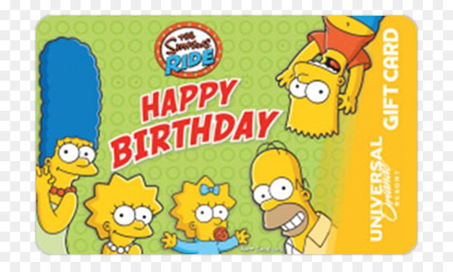 Universal Orlando Birthday Gift Card Bart Simpson Singapore