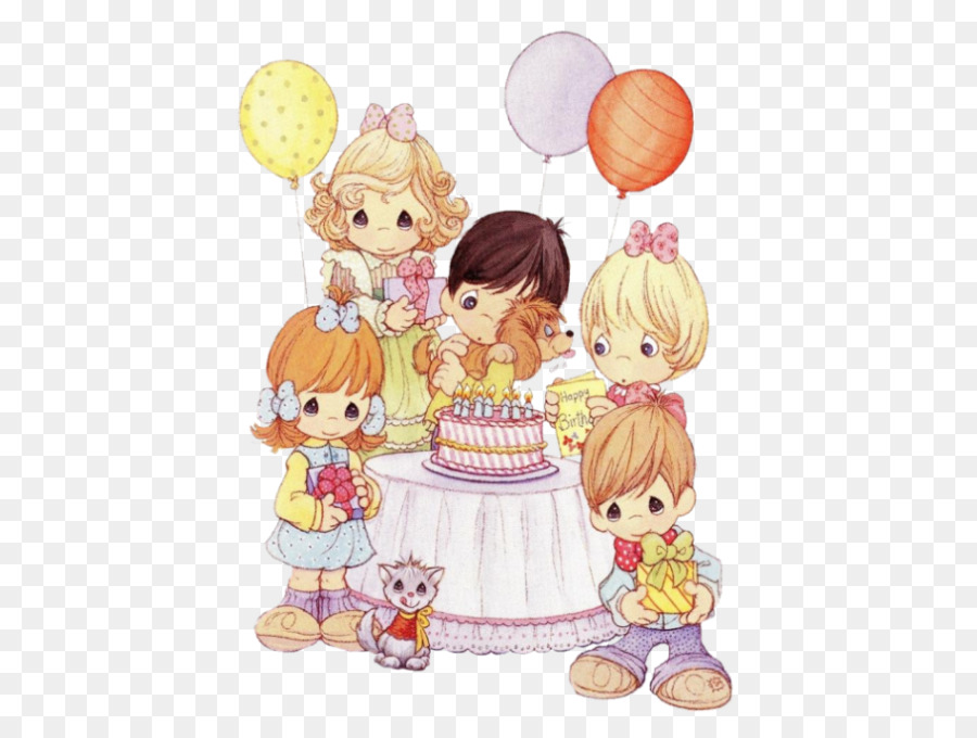 Precious Moments Inc Happy Birthday Greeting Note Cards Clip Art
