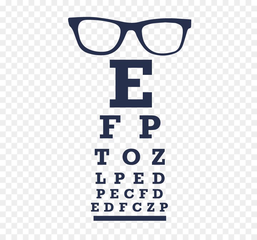 Glasses Logo Eye Chart Font Eye Chart Png Download 516826