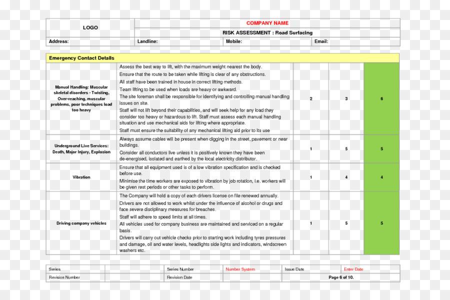 Risk Assessment Template Risk Management Rsum Risk Analysis Png