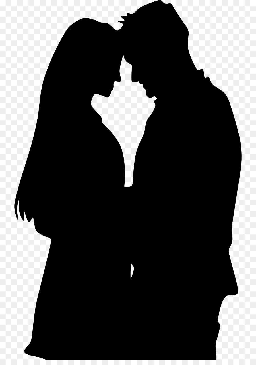 Romance romance film couple black silhouette png