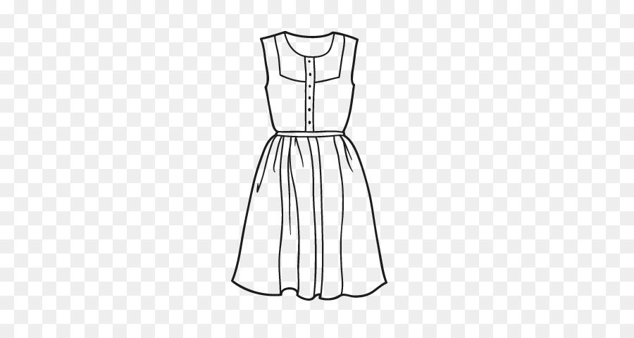 Gaun Gambar Pakaian Buku Mewarnai Pola Musim Panas Pesan Unduh