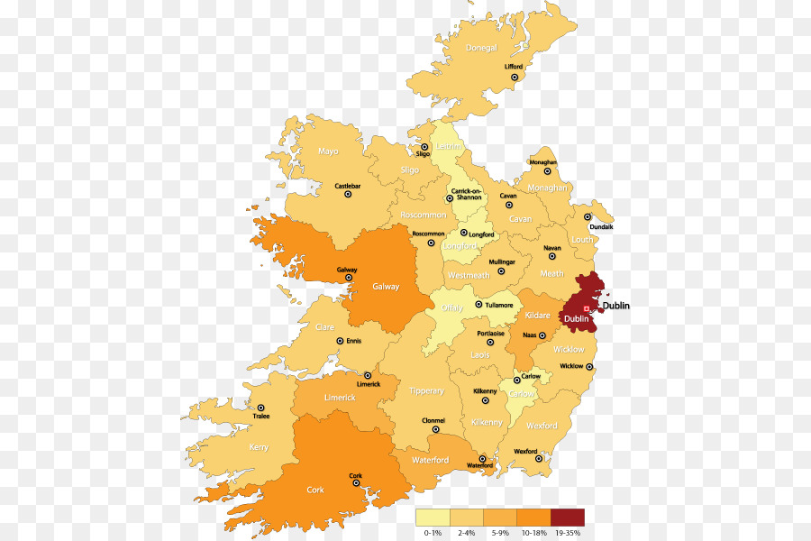 Road Map Of Ireland Counties.Counties Of Ireland Road Map Bermuda Map Png Download 500 598