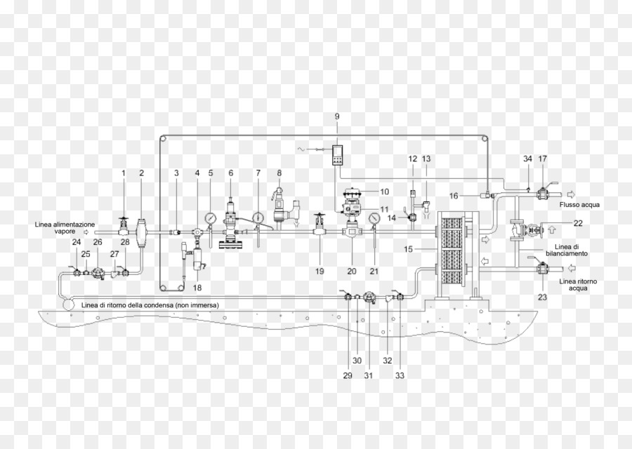 Drawing Electronic circuit Plate heat exchanger - design png ...