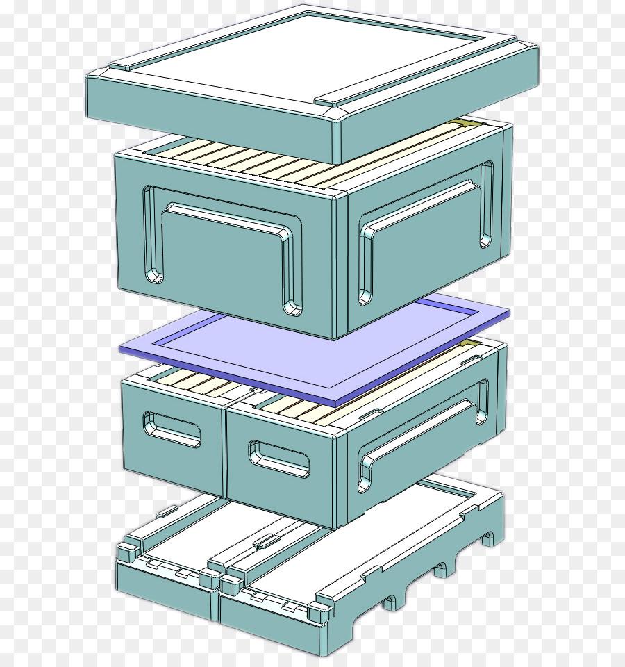 Beehive Nuc Horizontal top-bar hive Langstroth hive - bee png ...