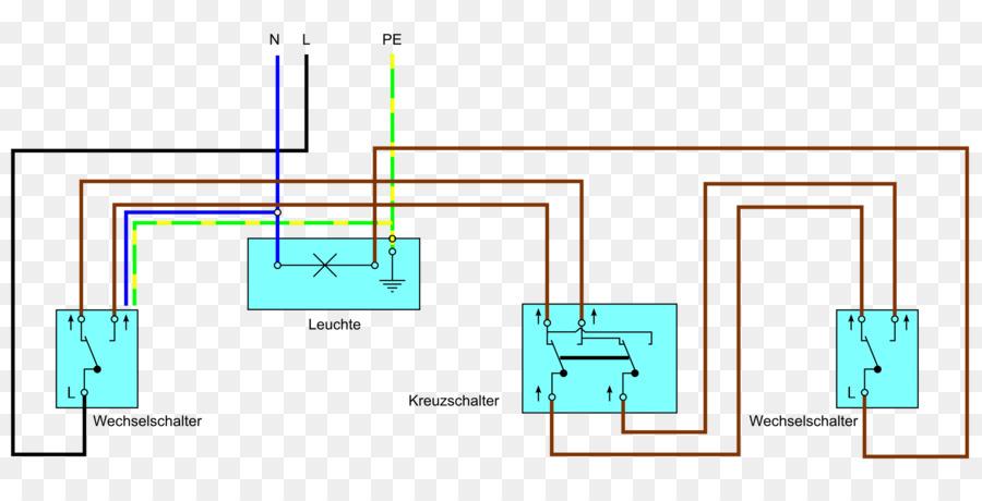 Multiway switching Kreuzschaltung Changeover switch Kreuzschalter ...