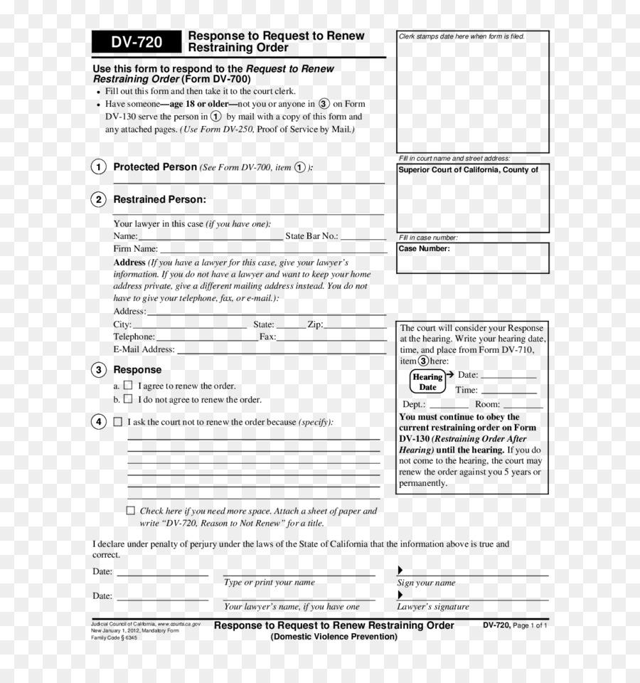 Document Restraining Order North Carolina Form Domestic Violence