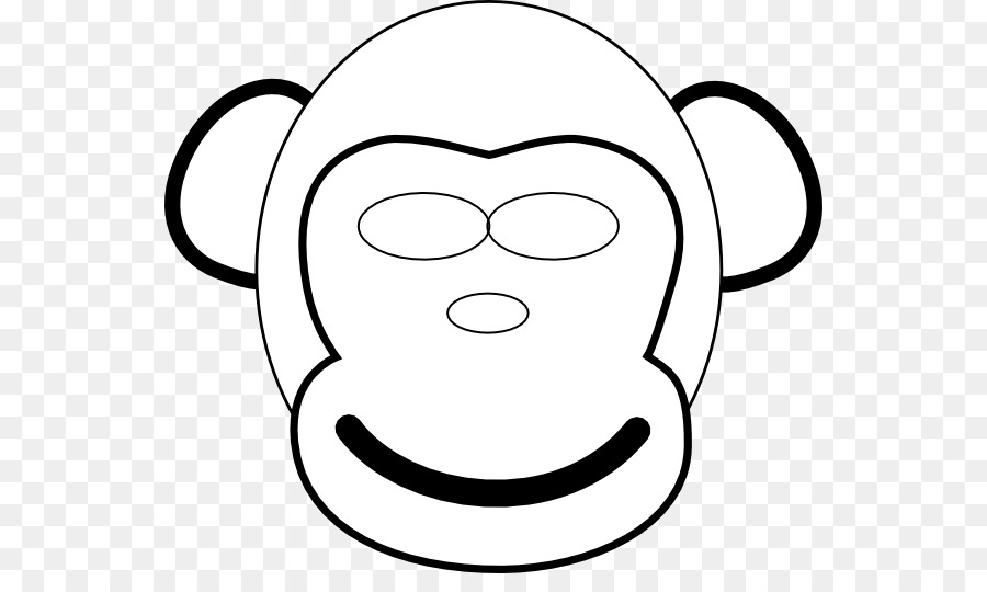 çizim Maymun şempanze Küçük Resim Maymun Surat Png Indir 600523