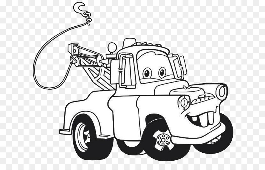 Lightning McQueen Mater Drawing Cars Coloring book - mcqueen 95 png ...