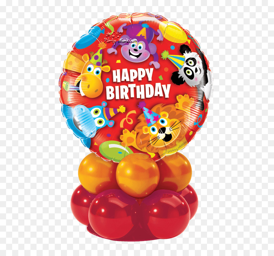 Balloon Happy Birthday Gift Flower Bouquet Balloon Png Download