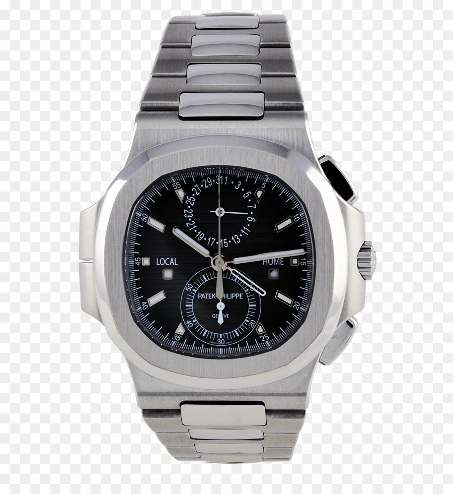 93224ea21f8 Correia de relógio de Aço Patek Philippe   Co. - Viagem no tempo ...