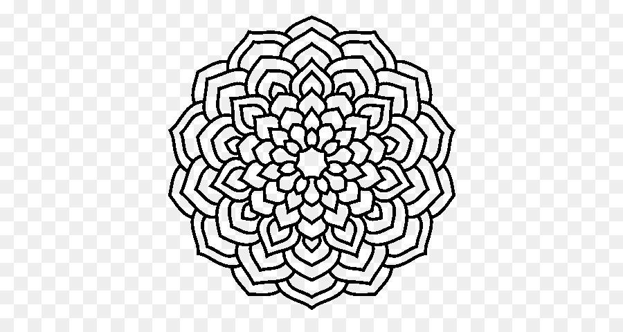 Flor libro para Colorear, Dibujo de Mandala de diseño Floral ...