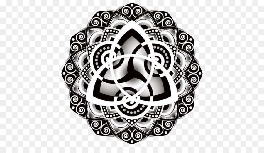 Celtic Knot Triquetra Tattoo Mandala Drawing Symbol Png Download