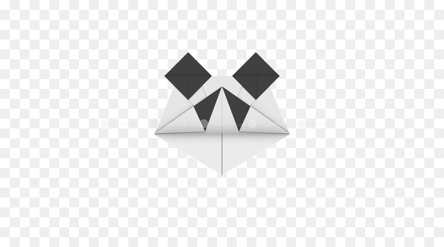 Paper Triangle Origami Panda Face Png Download 500500 Free
