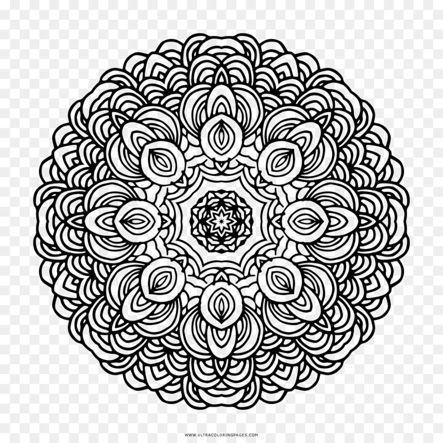 Mandala Dibujo para Colorear libro libre de Regalías - Bohemio ...