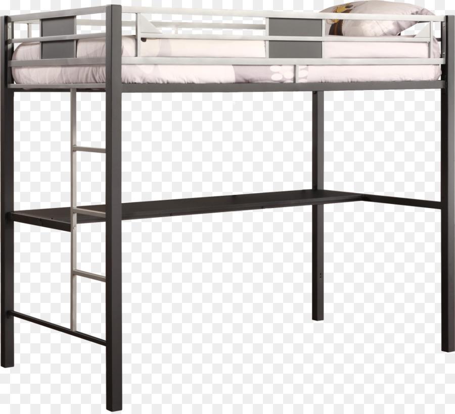 Bunk bed Metal Desk Loft - bunk bed png download - 1000*907 - Free ...