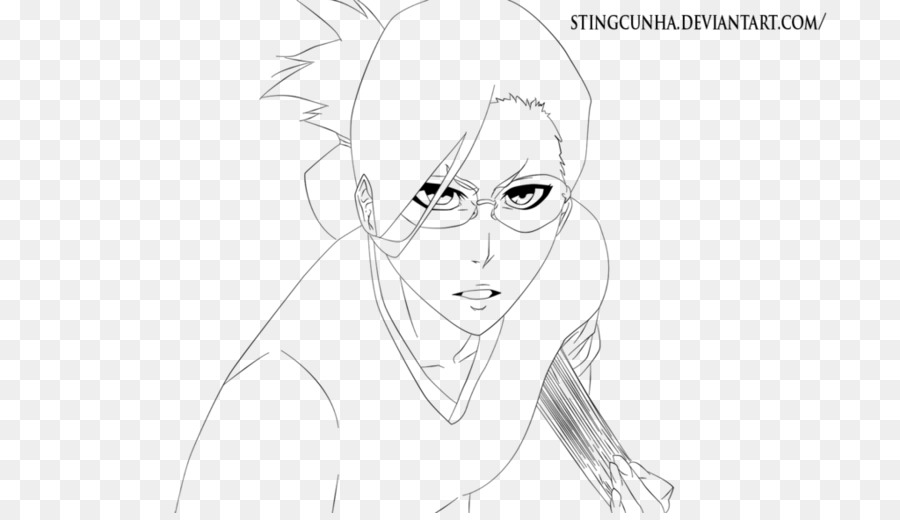 Garis Seni Gambar Sketsa Kartun Pemutih Yoruichi Unduh Garis