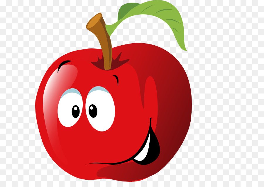 Apple smiley. Cartoon png download free