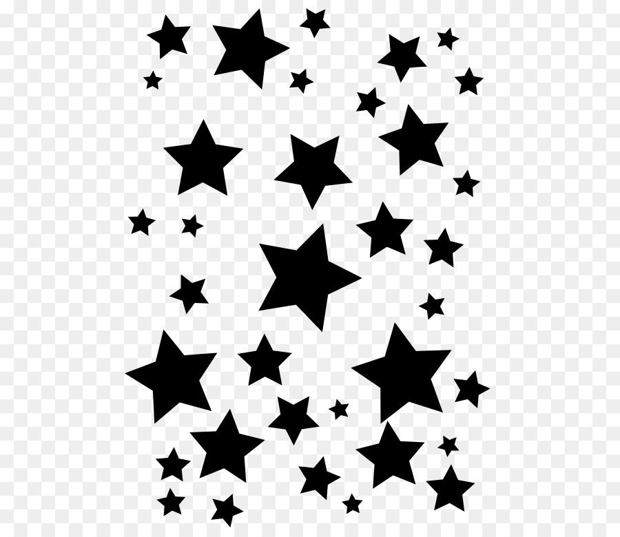 Silhouette Stern-Schablone Zeichnen - Silhouette png herunterladen ...